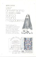 242 ANIVERSARIO DE LA CREACION DE LA PARROQUIA DE SANTA MARIA MAGDALENA LA PLATA ARGENTINA AÑOS 1730-1972 TARJETA CARD S - Christianisme