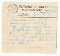 698/23 - 2 Formules Différentes De Télégrammes De SERVICE - ESSCHEN 1921 Et BRUXELLES 1932 - Télégraphes