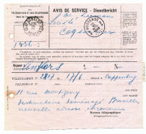 699/23 - Administration Des Télégraphes - AVIS De SERVICE OOSTENDE 1926 - Document Peu Commun - Telegraph