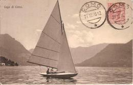 (C).Barca A Vela Sul Lago Di Como.F.to Piccolo.Viaggiata (c16) - Barche
