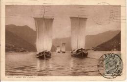 (C).Barche A Vela Sul Lago Di Como.F.to Piccolo.Viaggiata (c16) - Barche