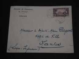 FRANCE / SÉNÉGAL - Enveloppe De La Direction De L 'intendance De L  '.A.O.F. De Dakar Pour Nantes En 1938 - A Voir- L202 - Senegal (1887-1944)