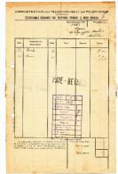 702/23 - Administration Des Télégraphes - Relevé Des Télégrammes échangés Par Téléphone MACHELEN 1926 - Telegraph