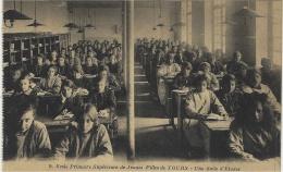 9- Ecole Primaire Supérieure De Jeunes Filles De TOURS -une Salle D'Etudes -ed. Arecole - Tours
