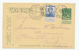 707/23 - Entier Pellens + TP Idem En EXPRES - Télégraphique ST NIKLAAS 1913 Vers ANTWERPEN - Postcards [1909-34]