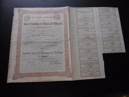 """Action """"S.A Des Hauts Fourneaux Et Usines De L'Olkovaïa à Ouspensk (Donetz) """"Bruxelles 1896 N°08728 - Russie"""