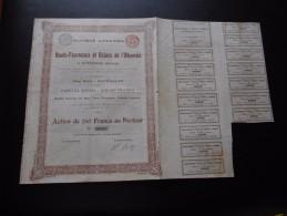 """Action """"S.A Des Hauts Fourneaux Et Usines De L'Olkovaïa à Ouspensk (Donetz) """"Bruxelles 1896 N°05532 - Russie"""