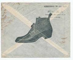 712/23 - CHAUSSURES BELGIQUE - Enveloppe Illustrée Fabique De Chaussures Hupin à BINCHE - TP Germania - Timbres