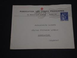 FRANCE - Type Paix Seul Sur Enveloppe De La Croix Rouge De Paris Pour Constantine En 1939 - A Voir- L 226 - Marcofilia (sobres)