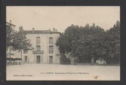 DF / 34 HERAULT / LODÈVE / ESPLANADE ET PLACE DE LA RÉPUBLIQUE / CIRCULÉE EN 1911 - Lodeve
