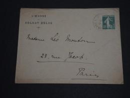 FRANCE - Type Semeuse Seul Sur Enveloppe De La Croix Rouge De Paris Pour Paris En 1915 - A Voir- L 227 - Marcofilia (sobres)