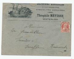 714/23 - BELGIQUE - Machines Agricoles - Enveloppe Illustrée Th. Mévisse à WATERLOO 1908 - Agriculture