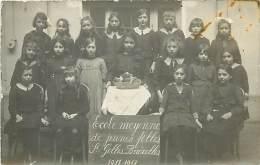 A-16 8739 : ECOLE MOYENNE DE JEUNES FILLES SAINT-GILLES BRUXELLES 1911 1912 CARTE PHOTO - St-Gilles - St-Gillis