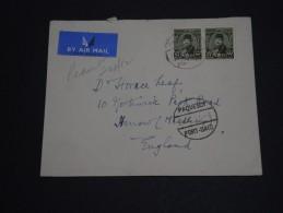 EGYPTE - Env. Pour La GB En 1952 - Cachet Bateau ( Date Inversé) Et Affranchissement Timbres Surchargés  - A Voir- L 233 - Ägypten