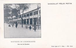 CHOCOLAT FELIX POTIN - SOUVENIR DE COCHINCHINE - UNE RUE DE CHAUDOC - Vietnam