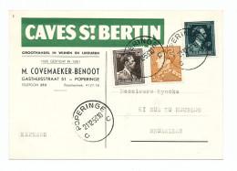 728/23 - BELGIQUE Carte Publicitaire En EXPRES Caves St Bertin à POPERINGE 1953 - Vins Et Liqueurs Covemaeker Benoot - Vins & Alcools