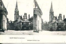 N°49930 -cpa Saint Malo -carte Stereoscique- - Stereoscope Cards
