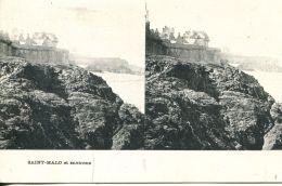 N°49931 -cpa Saint Malo -carte Stereoscique- - Stereoscope Cards