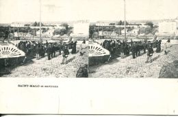 N°49932 -cpa Saint Malo -carte Stereoscique- - Stereoscope Cards