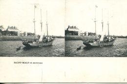 N°49933 -cpa Saint Malo -carte Stereoscique- - Stereoscope Cards