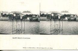 N°49934 -cpa Saint Malo -carte Stereoscique- - Stereoscope Cards