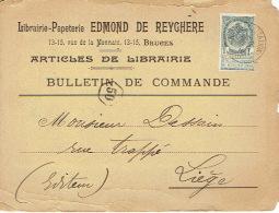 CP/PK Publicitaire BRUGGE 1902 - EDMOND DE REYGHERE - Librairie-papeterie - Brugge