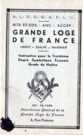 Grande Loge De France Troisième Degré Symbolique écossais - Grade De Maître - Franc Maçonnerie. - Religion & Esotérisme