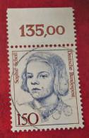 BRD Briefmarke Bund Freimarke Rand 1991 Sophie Scholl Deutschland - BRD