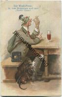Der Wadl-Protz ... - Dackel - Signiert M. Kuglmeyr - Hunde