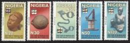 Nigeria 2010 Original Printing 2000 Years Art Terracotta Head Bronze Bowl Slave Chain Hologram MNH Mint Set - Holograms