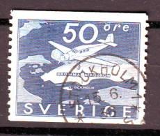 SUEDE  Poste Aérienne N° 6  Oblitéré  Cote 10 Euros