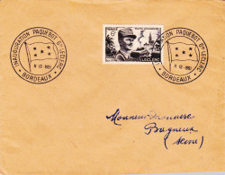 Lettre FRANCE N°Yvert 815 (LECLERC) Obl Sp Ill Inauguration Paquebot Leclerc - Marcophilie (Lettres)