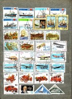 CUBA Transport Airplanes Ships Cars Nice Used Different Stamps Lot #6066 - Timbres