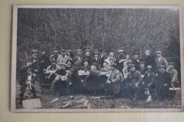 422/ Chasseurs -réunion De Chasse (régions Marche En Famenne)-carte Photo - Caza
