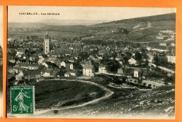 CAL1068, Pontarlier, Vue Générale, Circulée 1908 - Pontarlier