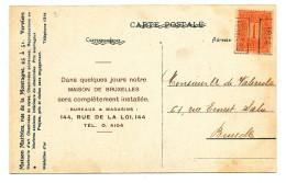 818/23 -- Carte Publicitaire Cheminées Mathieu à VERVIERS - TP PREO VERVIERS 1914 - Precancels