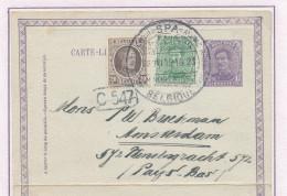 819/23 -- Carte-Lettre Petit Albert En Mixte Avec TP Houyoux SPA 1923 Vers AMSTERDAM - TARIF PREFERENTIEL 40 C - Letter-Cards