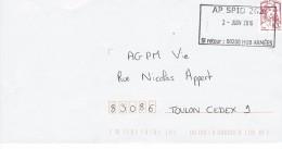 CIAPPA LP DE CARNET . Oblitération Militaire AP SPID 262 - Marcophilie (Lettres)
