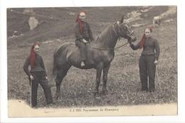 14827 - Paysannes De Champéry Cheval - VS Valais
