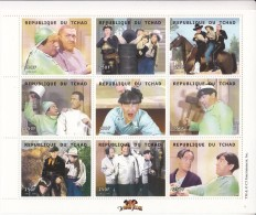 2000 Chad Tchad   Three Stooges 2 Miniature Sheets Of 9  &  4 Souvenir Sheets Complete Set Of 6 MNH - Ciad (1960-...)