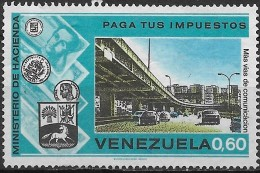"VENEZUELA 1974 ""Pay Your Taxes"" Campaign - 60c City Centre Motorway FU - Venezuela"