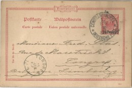 -5pk-118: 20 PARA 20 Postkarte CONSTANTINOPEL DEUTSCHE POST 1 11.6 98 > TONGRES - Offices: Turkish Empire