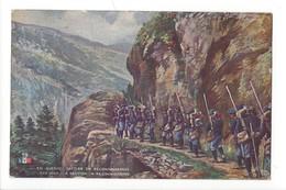 14834 - En Guerre Section En Reconnaissance The War A Section In Reconnoitring Envoyée De Vevey 1917 - Weltkrieg 1914-18