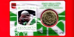 VATICANO - FDC - 2016 - Pontificato Papa Francesco - Giubileo Misericordia - 0.50 - Stamp & Coin Card - 0.95 - N.10 - Vatican
