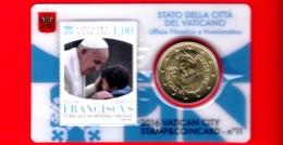VATICANO - FDC - 2016 - Pontificato Papa Francesco - Giubileo Misericordia - 0.50 - Stamp & Coin Card - 1.00 - N.11 - Vatican