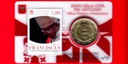 VATICANO - FDC - 2016 - Pontificato Papa Francesco - Giubileo Misericordia - 0.50 - Stamp & Coin Card - 3.00 - N.13 - Vatican