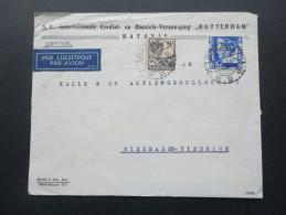 Niederländisch Indien 1938 Luftpostbrief / Per Luchtpost. Internationale Crediet En Handels Vereeniging Rotterdam - Nederlands-Indië