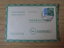 14.01.1956, POSTKARTE Der FUNKLOTTERIE Mit STEMPEL Von TIMMENDORFER STRAND - Cartas