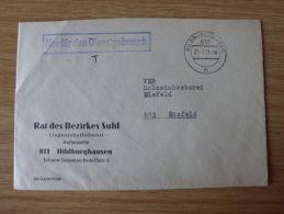 DDR, 27.01.1977, DIENSTBELEG Des RATS Des BEZIRKES SUHL AUßENSTELLE HILDBURGHAUSEN - Oficial