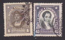 Chile, Scott #144-145, Used, Columbus, Rengifo, Issued 1918-21 - Chile